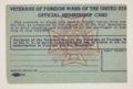 Abel Alcala's VFW Membership Card - 2