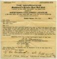 Wichita Monrovians baseball correspondence - June 22, 1923