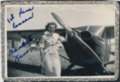 Elaine Hammer Walser with an airplane
