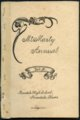 Mount Marty Annual, 1920, Rosedale, Kansas - Cover