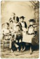Palenske children in studio portrait - front