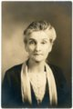 Portrait of Bertha Eck of Alma, Kansas - front