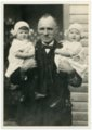 Louis Palenske with Granddaughters at Burlington - front