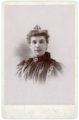 Studio portrait of Mary Meier, Alma, Kansas - front