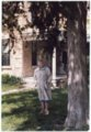 Ada Sage Laverty at Alma, Kansas home - front