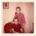 Florence Palenske Hallgren and Ada Sage Laverty at Alma, Kansas - front