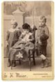 Minnie, Fred and Max Palenske - cabinet card - front
