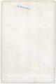 Homer Palenske cabinet card - back