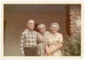 Martin and Minnie Zwanziger and Laura Palenske Stella at Alma, Kansas - front