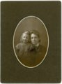 Studio portrait of Minnie and Laura Palenske - front