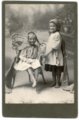 Cabinet card of Laura Palenske and Bessie Ketterman - front
