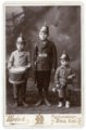 Cabinet card of Max, Fred and Arnold Palenske - front