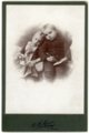 Cabinet card of Minnie and Max Palenske - front