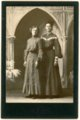 Cabinet card of Minnie Palenske and Mabel Thoes Ragland