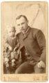 Studio portrait of Louis and Minnie Palenske - front