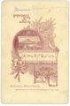 Cabinet card, Minnie Palenske - back