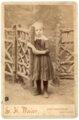 Cabinet card, Minnie Palenske - front