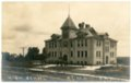 High school at Alma, Kansas - front