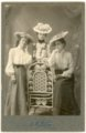 Studio portrait of Minnie Palenske, Rosie Noller, and Laura Thoes - front