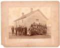 Greenwood Valley School and Patrons, Lecompton township, Douglas County, Kansas - front