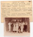 Lecompton High School Class of 1936, Lecompton, Kansas - front