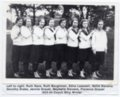 Lecompton High School Girls basketball team, 1923-24, Lecompton, Kansas - front