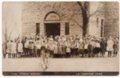 Students and teachers at Lecompton Grade School, Lecompton, Kansas - front