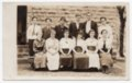 Lecompton High School Class Photo, Lecompton, Kansas - front