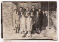 Lecompton High School Class Photograph, Lecompton, Kansas - front