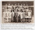 Lecompton Grade School Students, 1934, Lecompton, Kansas - front