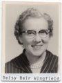 Daisy Bair Wingfield, Lecompton High School teacher, Lecompton, Kansas - front