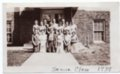 Lecompton High School Senior Class, 1934, Lecompton, Kansas - front