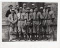 Lecompton Rural High School Baseball Team, 1914, Lecompton, Kansas - front