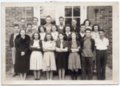 1942 Senior Class of Lecompton Rural High School, Lecompton, Kansas - front