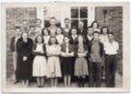 1942 Senior Class of Lecompton Rural High School, Lecompton, Kansas - front