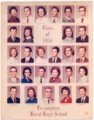 1961 Senior Class of Lecompton Rural High School, Lecompton, Kansas - front