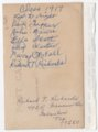 Lecompton High School Class of 1917, Lecompton, Kansas - back