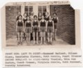 Lecompton High School Girls Basketball Team, Lecompton, Kansas - front