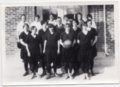 1928 Lecompton High School Girls Basketball team, Lecompton, Kansas - front