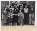 1941 Senior Class of Lecompton Rural High School, Lecompton, Kansas - front
