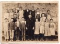 Lecompton School students and teacher, Lecompton, Kansas - front
