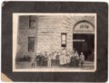 Early 1900's Lecompton Elementary Students photograph, Lecompton, Kansas - front
