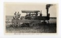 Farm crew with steam tractor, Butler County, Kansas - front