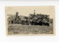 Man on hay wagon, Butler County, Kansas - front