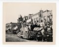 Horse-drawn float, Kaffir Corn Carnival, El Dorado, Butler County, Kansas - front