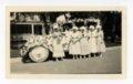 Women with automobile float, Kaffir Corn Carnival, El Dorado, Butler County, Kansas - front