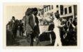 Knights of Mapira and groom in Kaffir Corn Carnival Parade, El Dorado, Butler County, Kansas - front