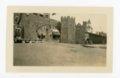 Kafirville entry arch and castle walls, Kaffir Corn Carnival, El Dorado, Butler County, Kansas - front