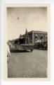Oil derrick float, Kaffir Corn Carnival Parade, El Dorado, Butler County, Kansas - front