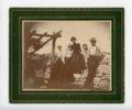 Farm family portrait in Butler County, Kansas - front